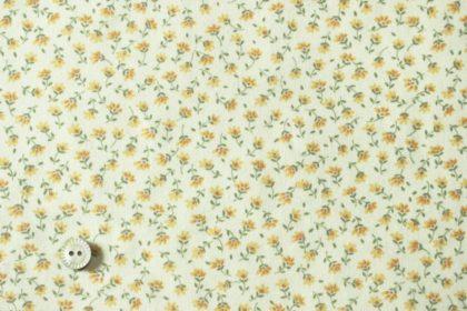 黄色の小花の布